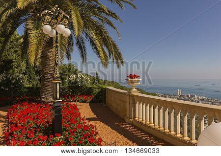 magnificent Bah-ai Gardens in Haifa northern Israel