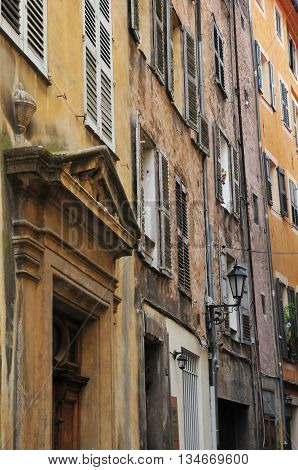 Grasse France - april 17 2016 : the touristy city center