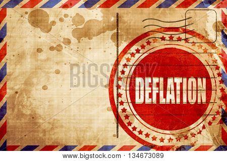 Deflation sign background