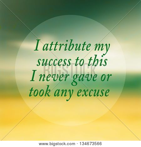 I never gave or took any excuse- quote typographical poster by Florence Nightingale