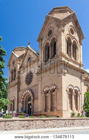 Cathedral Basilica Of Saint Francis Of Assisi, Also Known As Saint Francis Cathedral In Downtown San