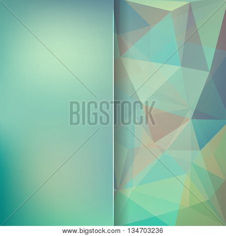 abstract pastel green background,  square simple vector illustration