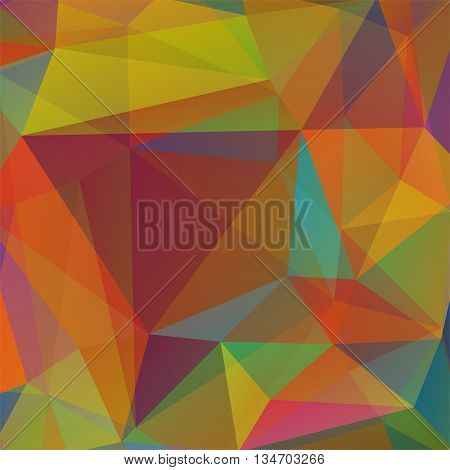 abstract autumn-colored  background,  square simple vector illustration