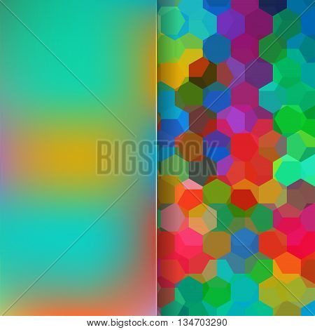 abstract colorful background,  square simple vector illustration
