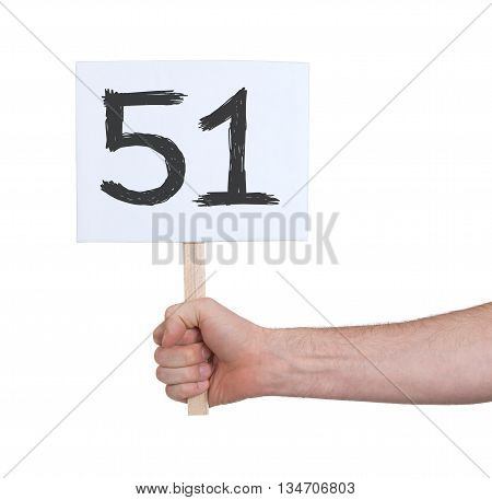 Sign With A Number, 51