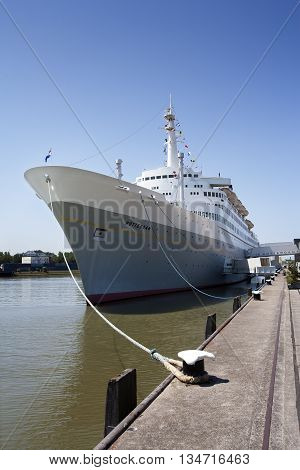 Rotterdam The Netherlands - June 6 2016: SS Rotterdam moored in the Katendrecht district in Rotterdam. In use as hotel and restaurant (Istock)