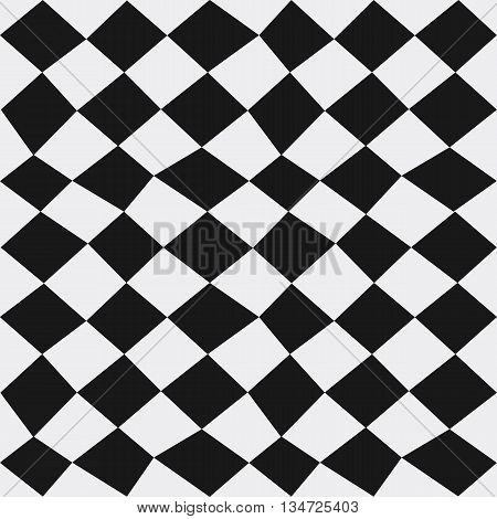 Seamless abstract vector dizzy texture pattern in monochrome background