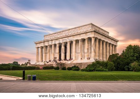 Lincoln Memorial in Washington DC, USA.