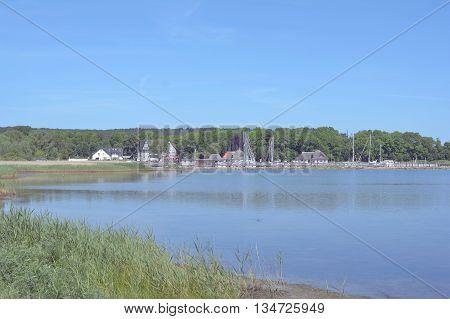 Village of Kloster on Hiddensee Island at Baltic Sea,Mecklenburg western Pomerania,Germany
