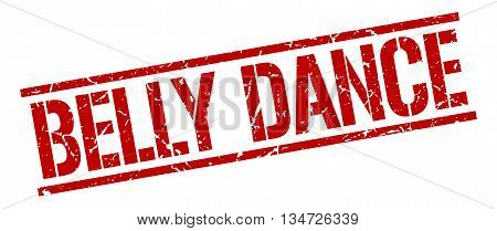 Belly Dance Stamp. Vector. Stamp. Sign. Belly.dance. Red.