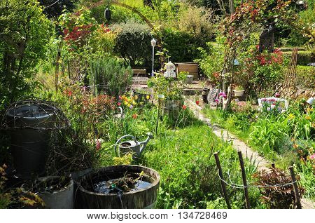 Verneuil sur Seine France - May 2 2016 : the allotment garden in spring