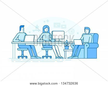 Coworking Space With Creative Team