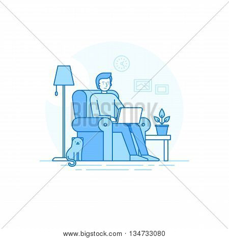 Home Office And Remote  Freelance Work Concept