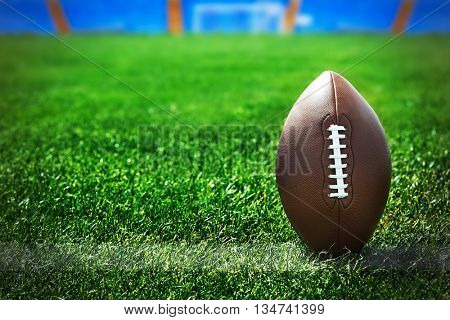 American football on field near yard line