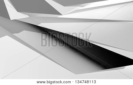 Abstract Digital Graphic Background, Chaotic 3D