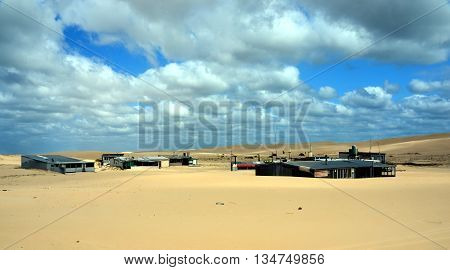 Tin City, Australia - October 4, 2014. In the 1930s a group of squatters constructed a series of tin shacks. Today, eleven of the shacks, known collectively as