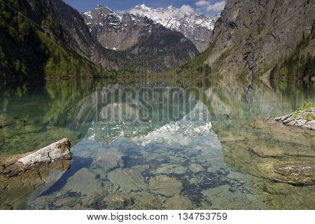 Lake Obersee near Berchtesgaden in the German Alps