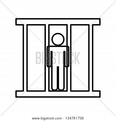 prisoner in jail isolated icon design, vector illustration eps10 graphic