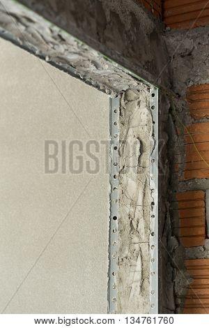 Structure Cement Door In Industry Construction Site