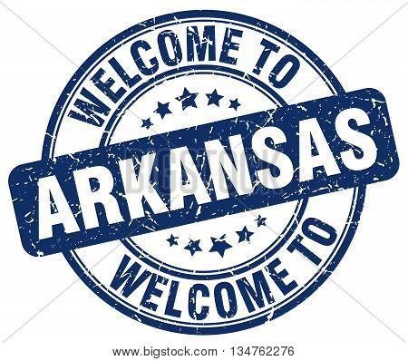 welcome to Arkansas stamp. welcome to Arkansas.