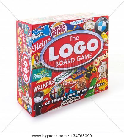 SWINDON UK - JUNE 17 2016: The Logo Board Game on a white background