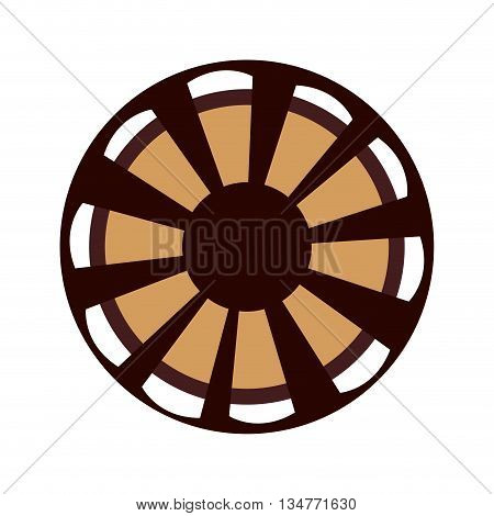 black, brown and white film reel vector illustration isolated over white