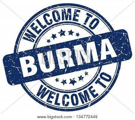 welcome to Burma stamp. welcome to Burma.