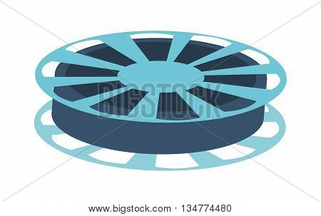 fblue ilm reel vector illustration isolated over white