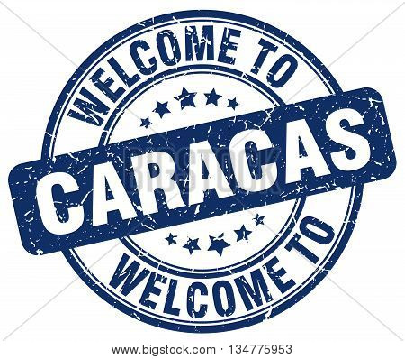 welcome to Caracas stamp. welcome to Caracas.