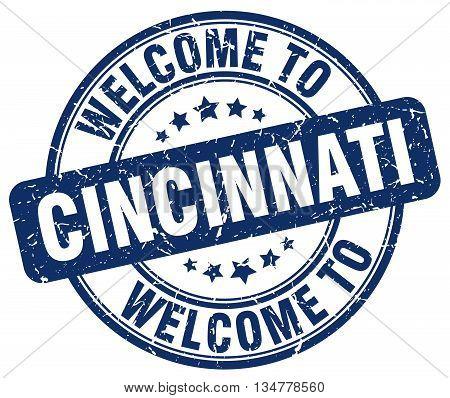 welcome to Cincinnati stamp. welcome to Cincinnati.