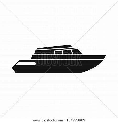 Planing powerboat icon in simple style isolated on white background. Sea transport symbol