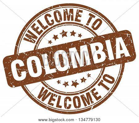 welcome to Colombia stamp. welcome to Colombia.