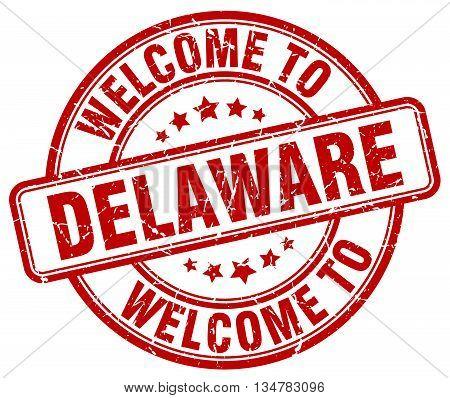 welcome to Delaware stamp. welcome to Delaware.