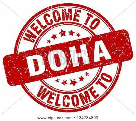 welcome to Doha stamp. welcome to Doha.