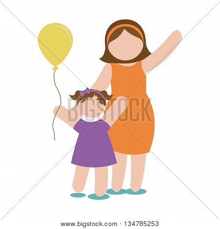 Avatar of Family design about mother and daughter  illustration, flat and isolted design