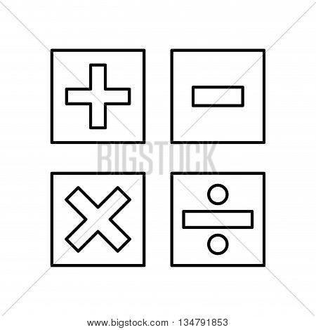 math concept represented by icon of calculator buttons,  flat and isolated design