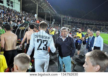 TERNOPIL - UKRAINE - 29 September 2015. The coach of FC