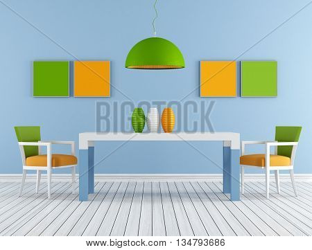 Colorful Modern Diningroom