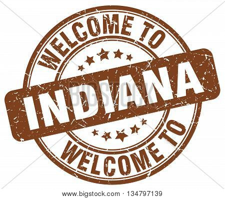 welcome to Indiana stamp. welcome to Indiana.