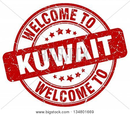 welcome to Kuwait stamp. welcome to Kuwait.