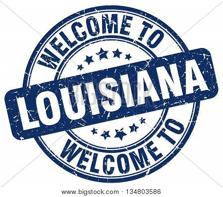 welcome to Louisiana stamp. welcome to Louisiana.