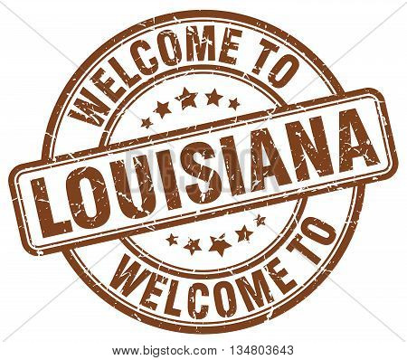 welcome to Louisiana stamp. welcome to Louisiana.