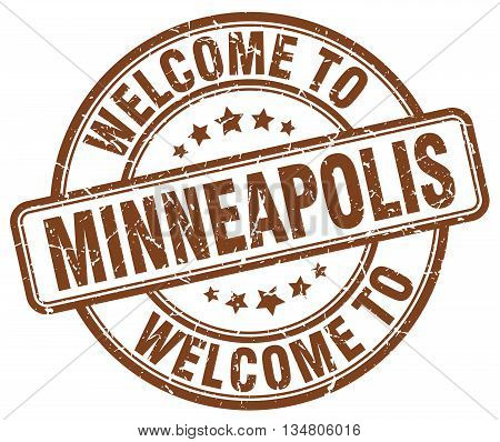 welcome to Minneapolis stamp. welcome to Minneapolis.