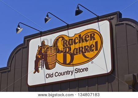 Indianapolis - Circa June 2016: Cracker Barrel Old Country Store Location. Cracker Barrel Serves Homestyle Food