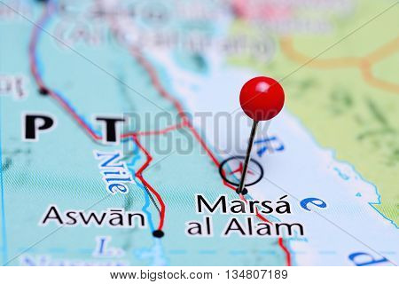 Marsa al Alam pinned on a map of Egypt