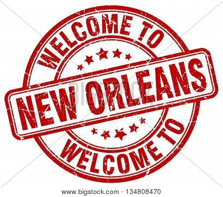 welcome to New Orleans stamp. welcome to New Orleans.