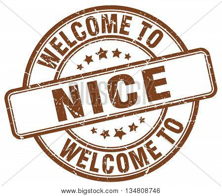 welcome to Nice stamp. welcome to Nice.