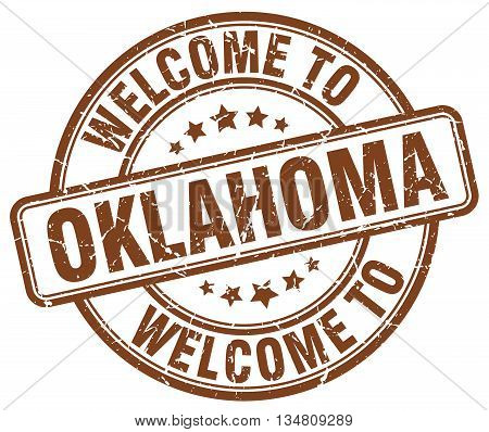 welcome to Oklahoma stamp. welcome to Oklahoma.
