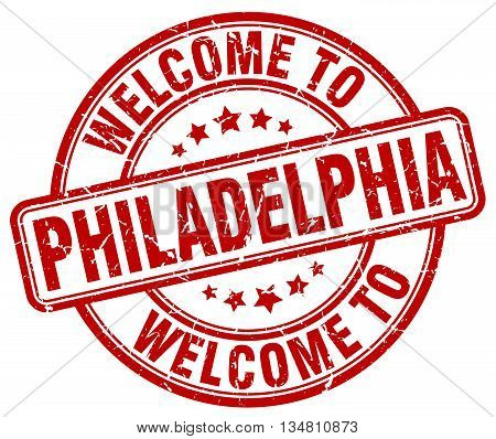 welcome to Philadelphia stamp. welcome to Philadelphia.