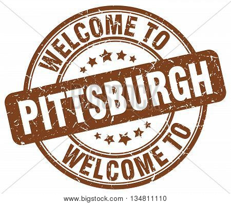 welcome to Pittsburgh stamp. welcome to Pittsburgh.